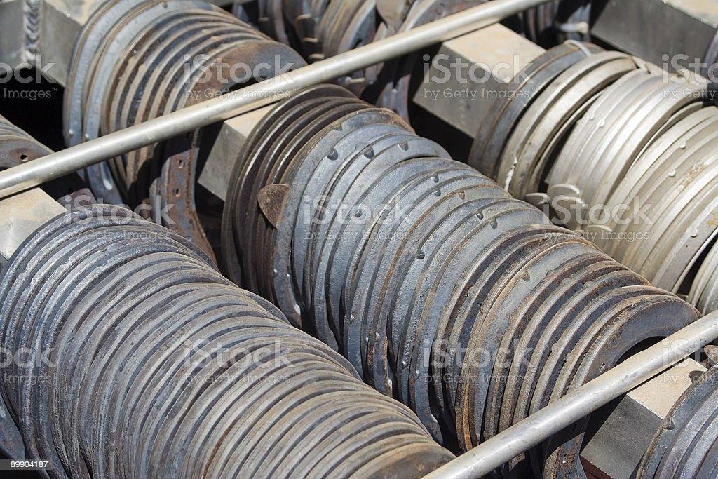 Horseshoe rack. royalty-free stock photo