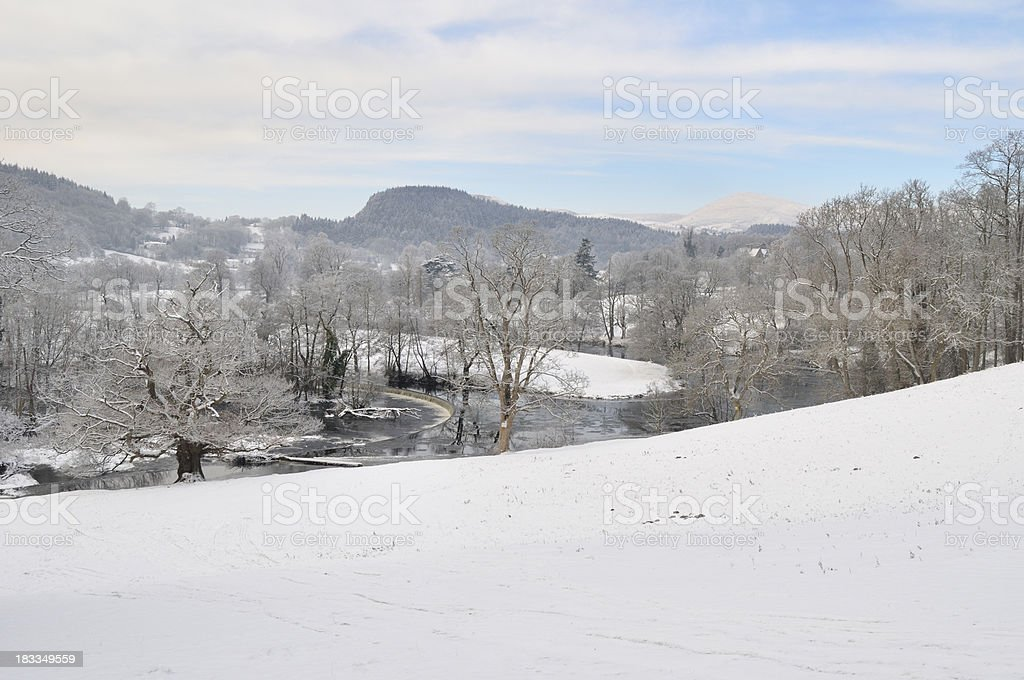 Horseshoes Falls in Winter royalty-free stock photo