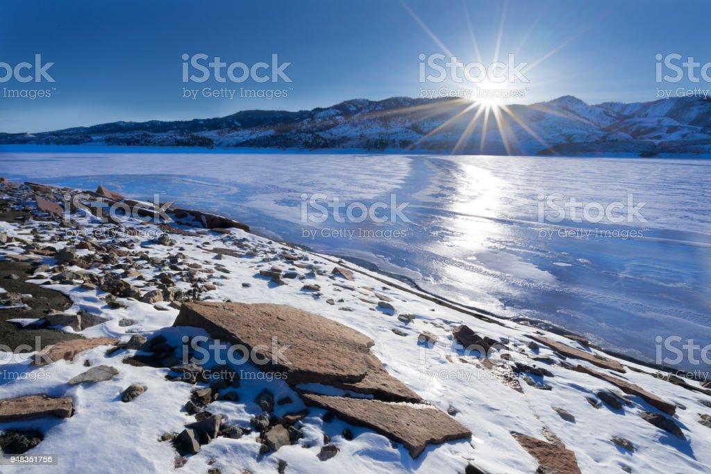 Horsetooth Reservoir stock photo