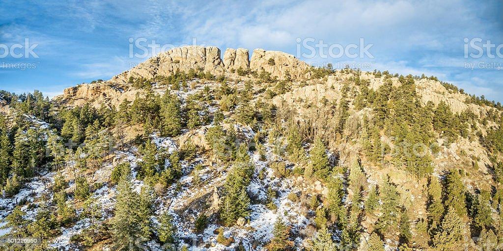 Horsetooth Rock panorama stock photo