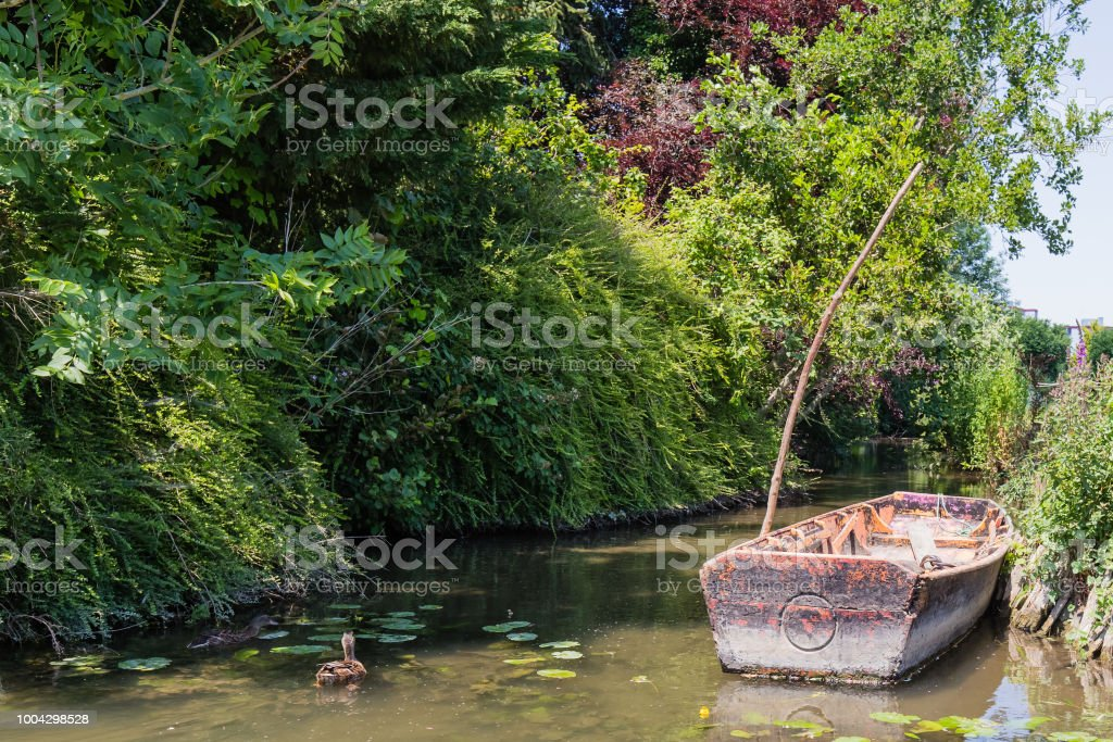 hortillonnages of Amiens stock photo