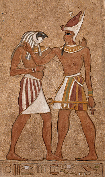 Horus and Osiris stock photo