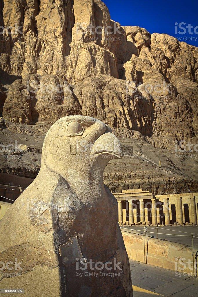 Horus in Hatshepsut's Temple royalty-free stock photo
