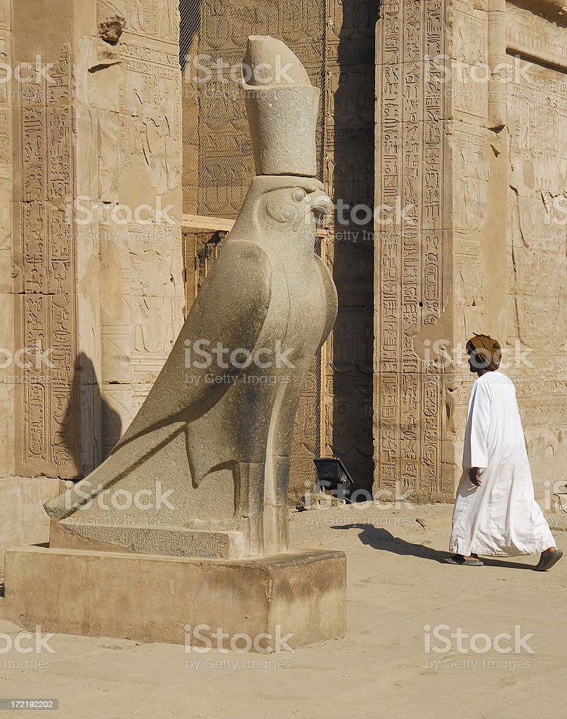 Horus Temple 02 stock photo