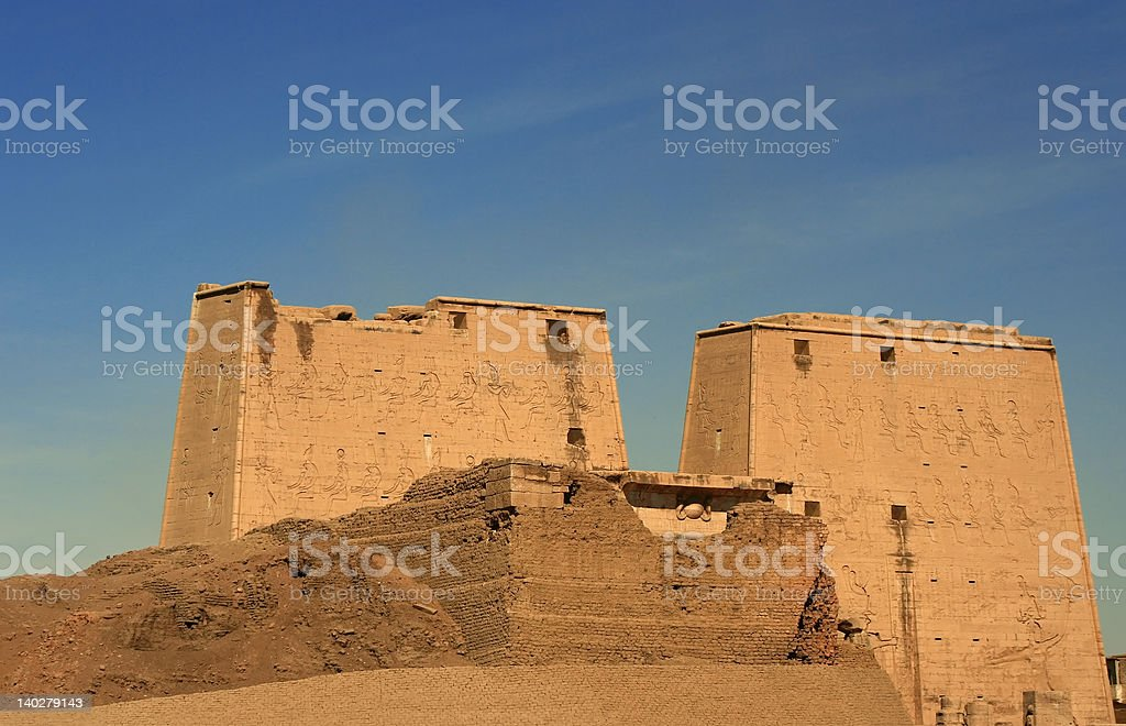 Horus Temple, Edfu, Egypt stock photo