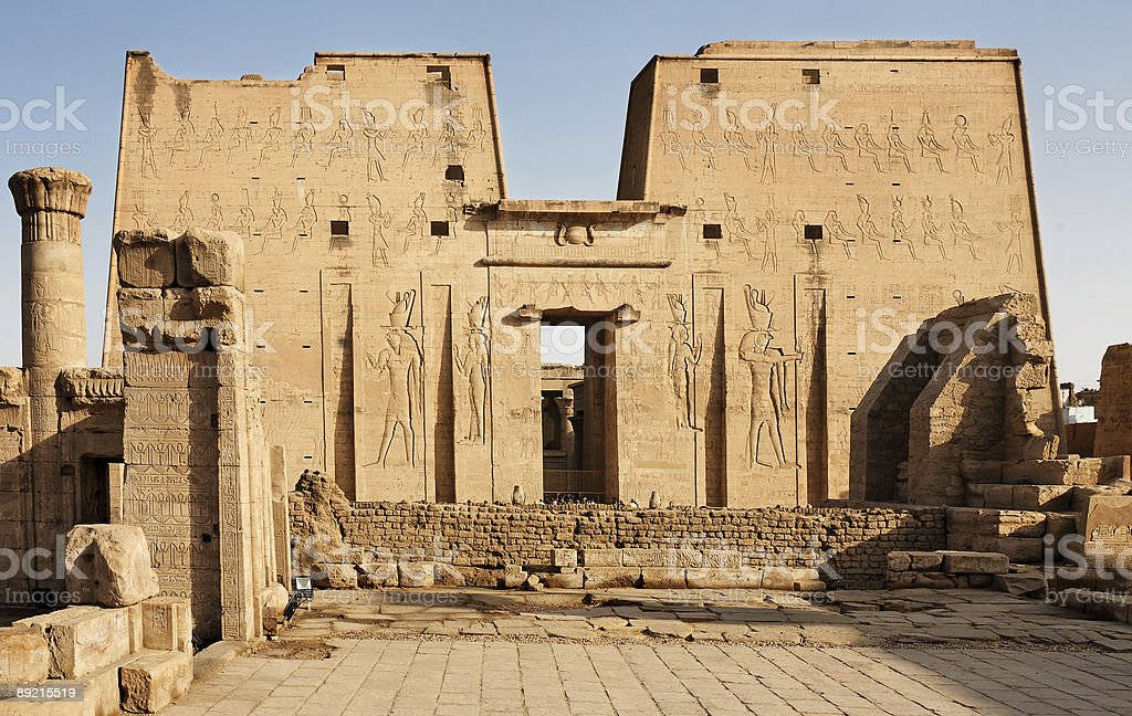 Horus temple Edfu stock photo