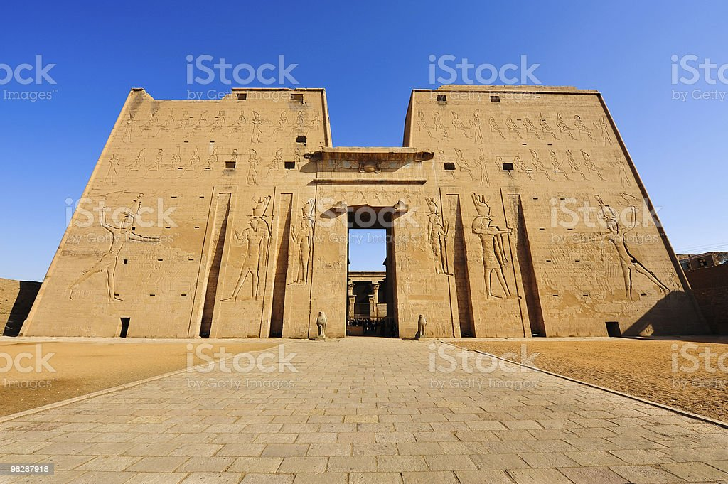 Horus temple in Edfu, Egypt royalty-free stock photo