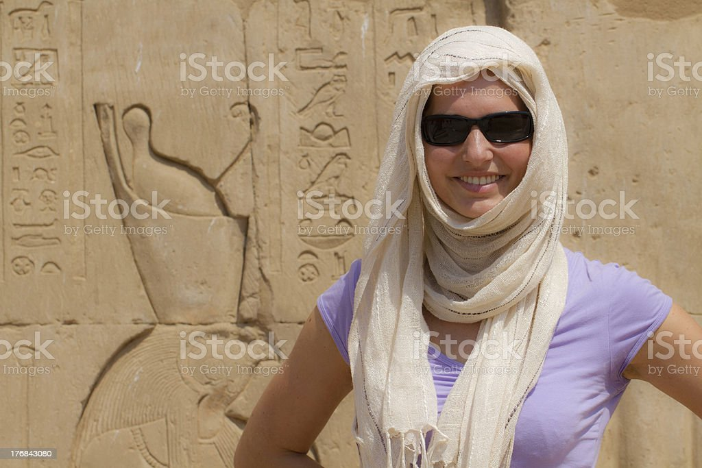 Horus temple in Edfu stock photo