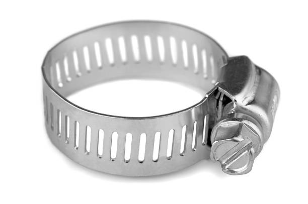 Hose clamp New metal hose clamp isolated on white washer fastener stock pictures, royalty-free photos & images