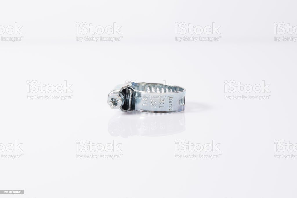 Hose clamp stock photo