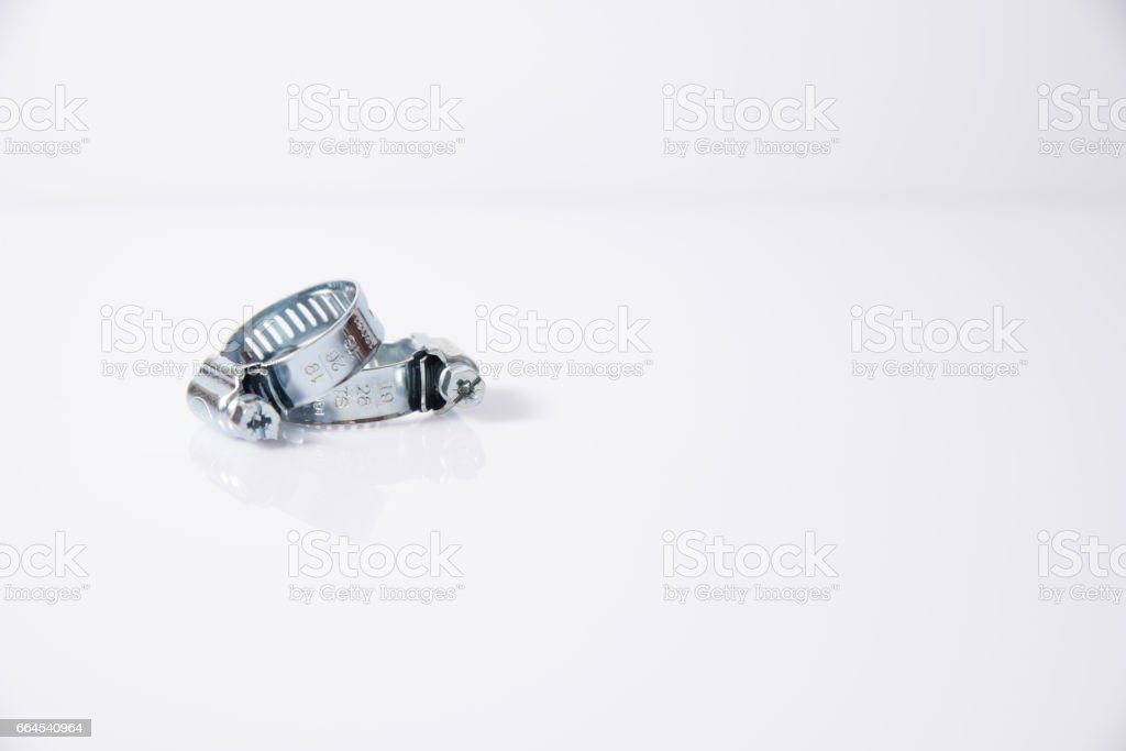 Hose clamp royalty-free stock photo