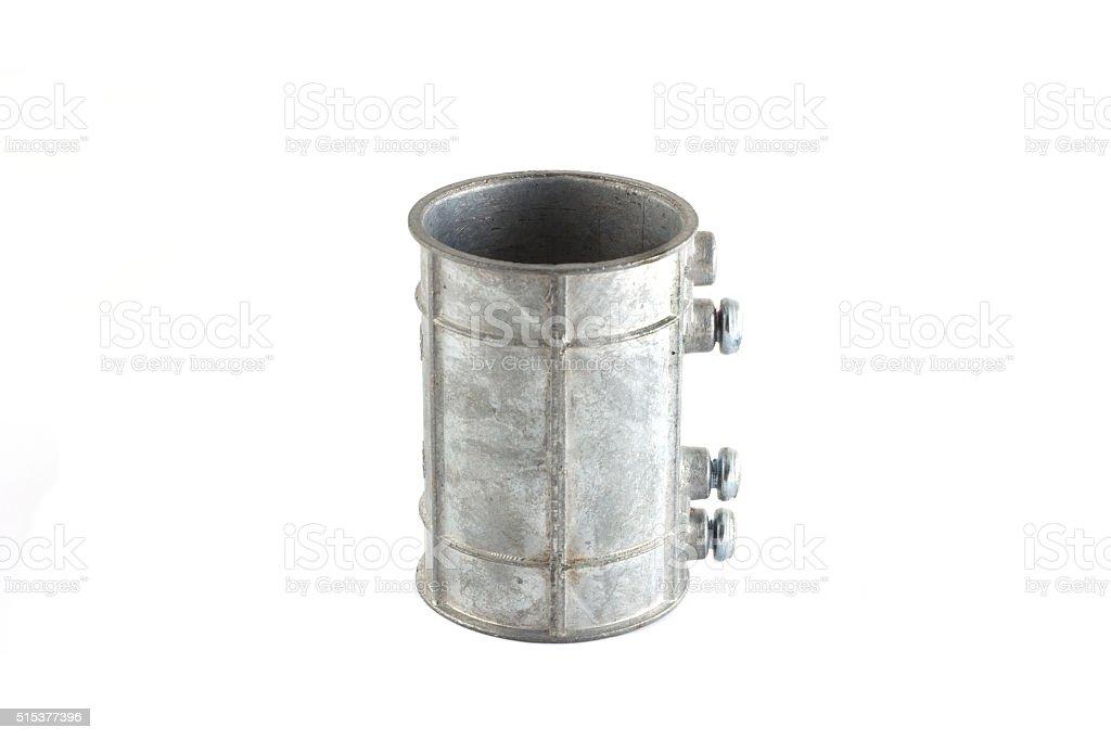 hose fittings on white stock photo