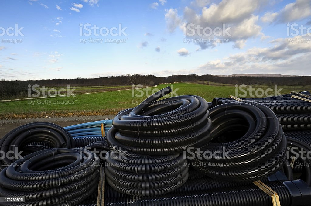 hose for construction site stock photo