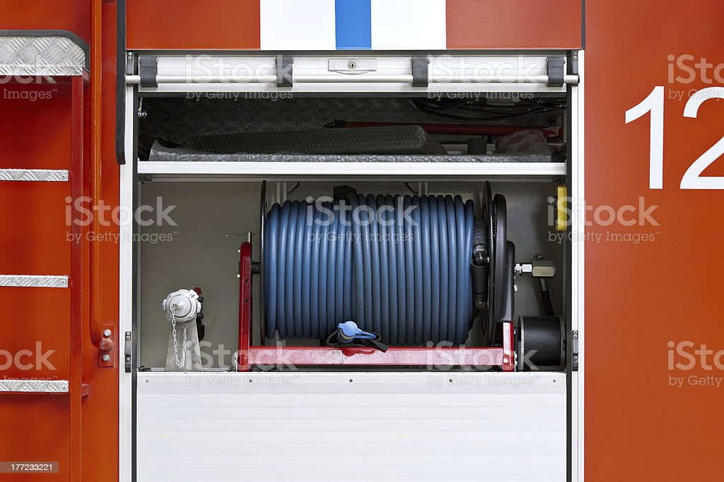 Hose of fire truck royalty-free stock photo