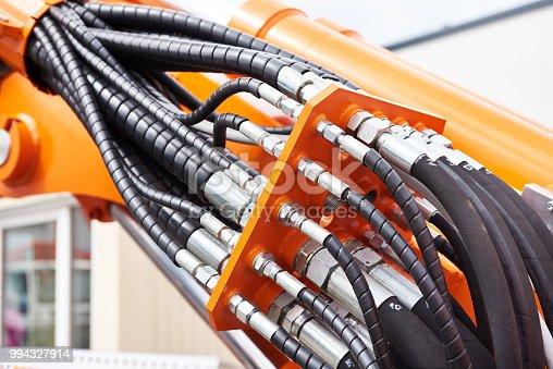 Hoses of modern hydraulic machine