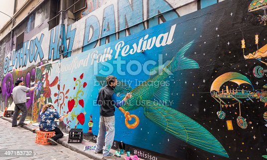 488380038 istock photo Hosier Lane in Melbourne, Australia 497183732