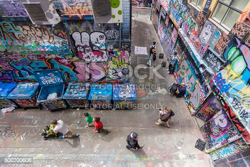 488380038 istock photo Hosier Lane in Melbourne, Australia 500200606