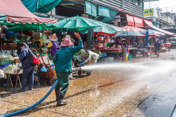 Auf dem Khlong Toei Markt – Foto