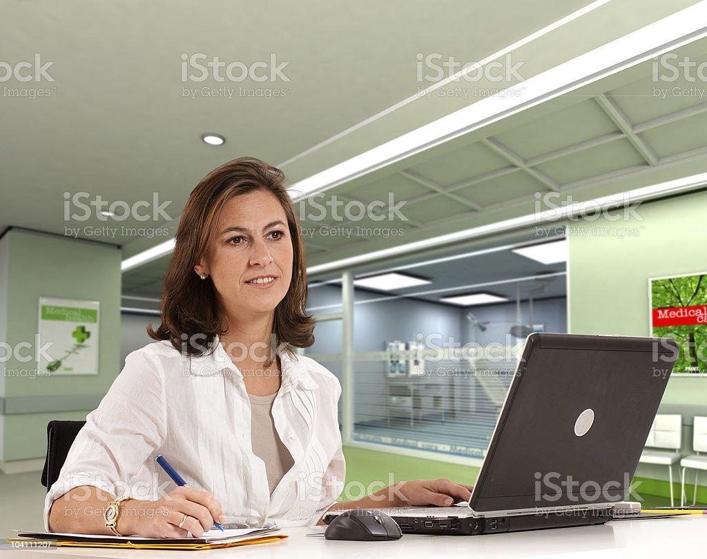 Hospital administrative stock photo