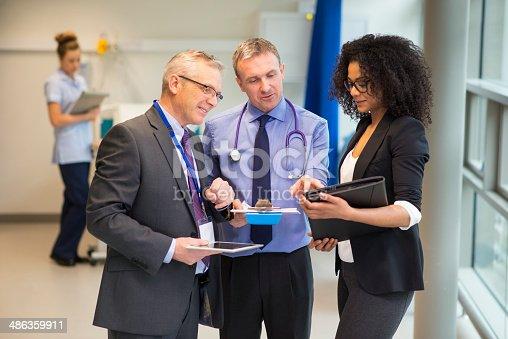 istock hospital administrator team 486359911