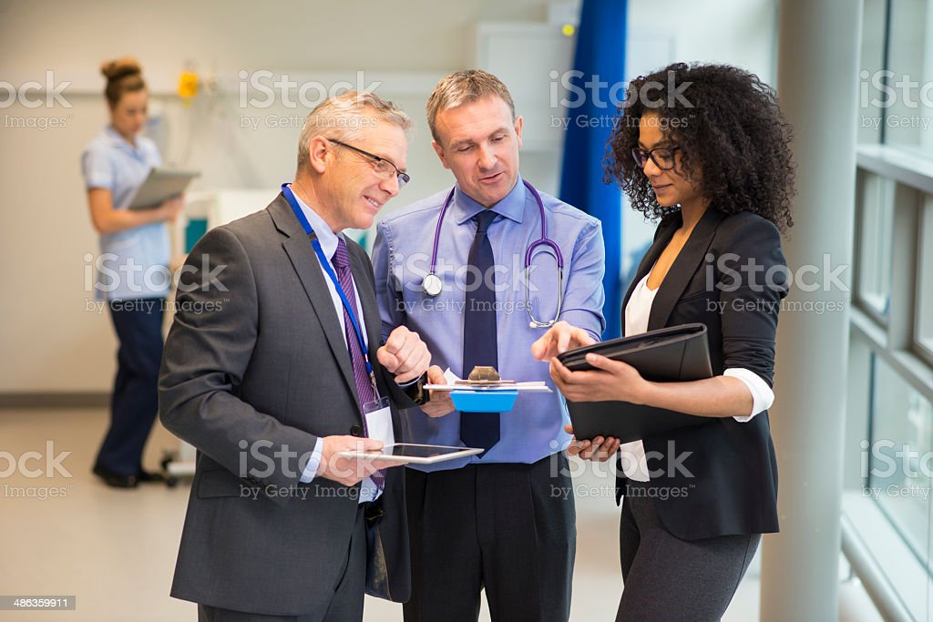 hospital administrator team stock photo
