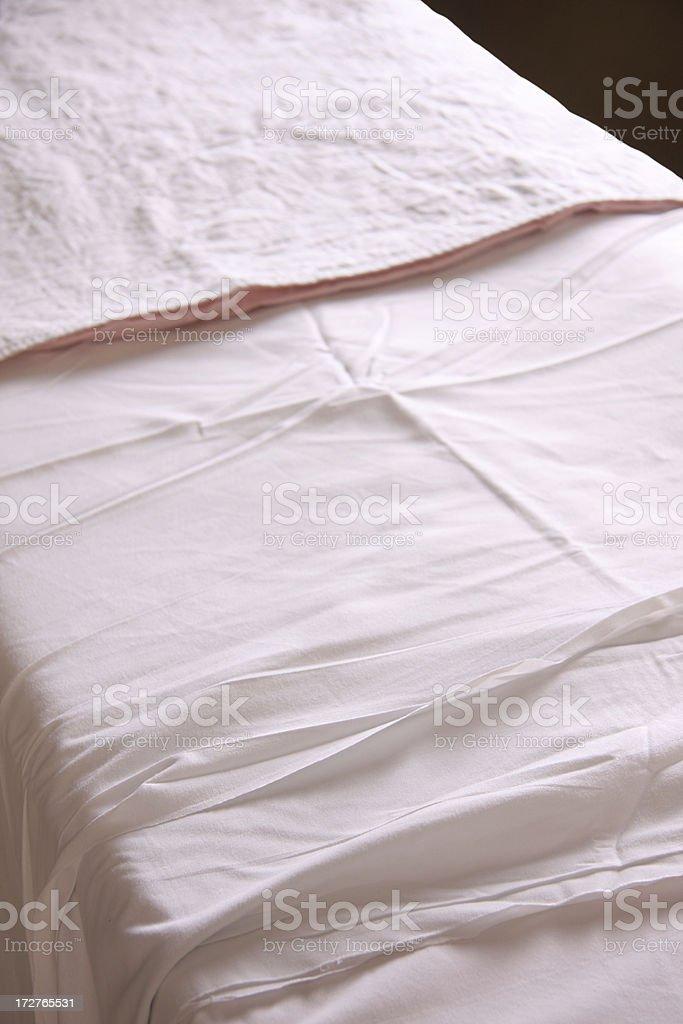 Hospital Bed Sheets stock photo