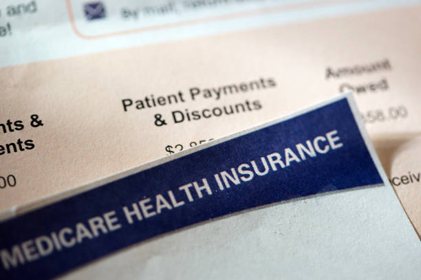 hospital bill close up shot of hospital bill medicare stock pictures, royalty-free photos & images