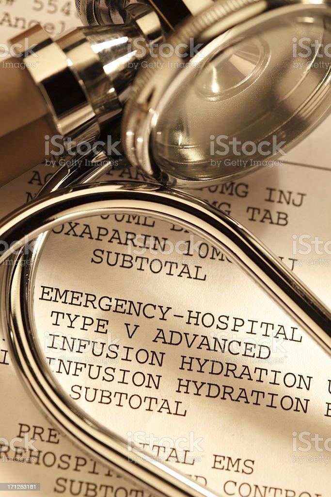 Hospital Bill royalty-free stock photo