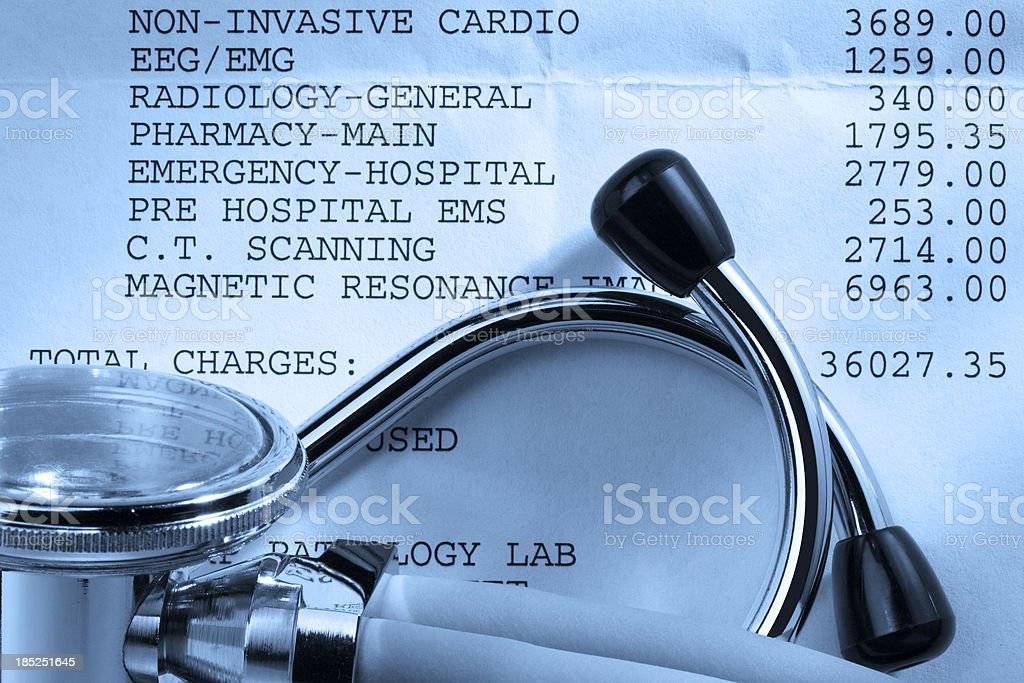 Hospital Bill royalty-free stock photo