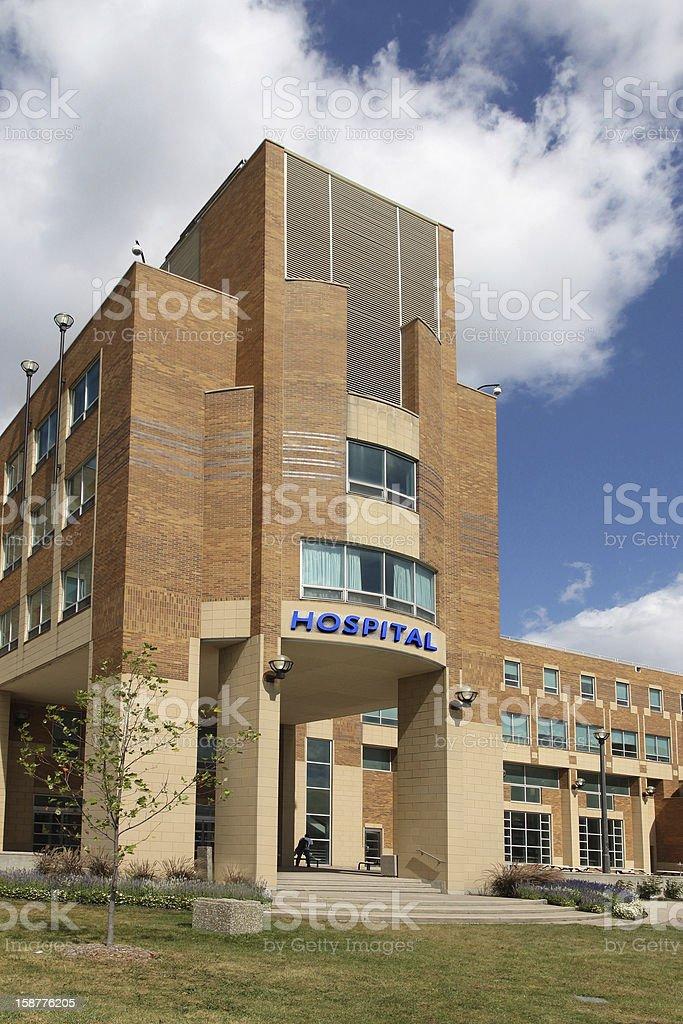 Hospital building stock photo