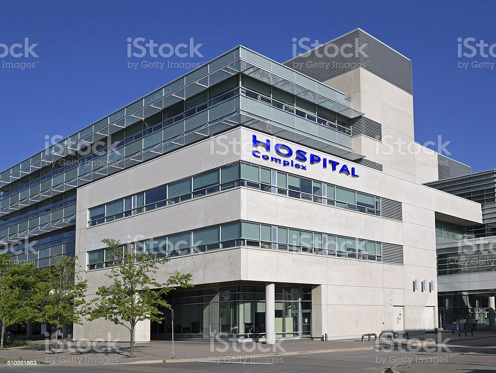 hospital building stock photo