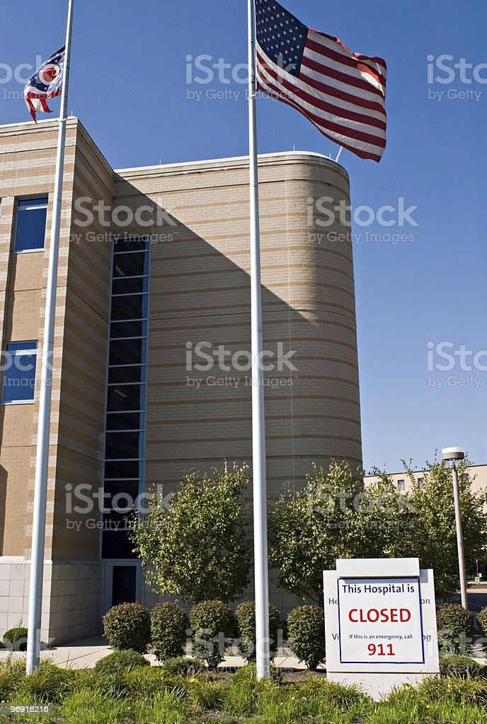 Hospital Closure royalty-free stock photo