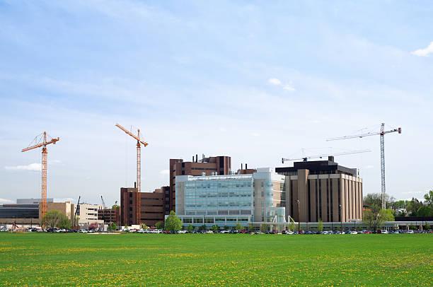 Hospital Construction stock photo