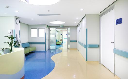 Hospital Floor InteriorHospital corridor, waiting