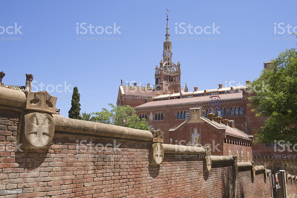 Hospital de Sant Pau in Barcelona, Spain royalty-free stock photo