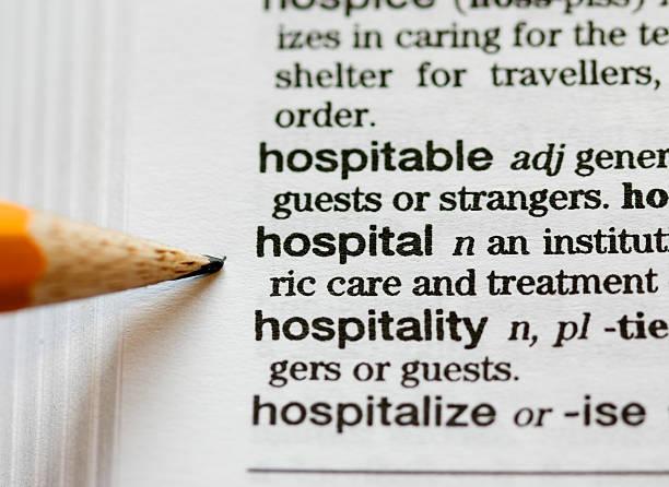 hospital definiert - definition krankheit stock-fotos und bilder