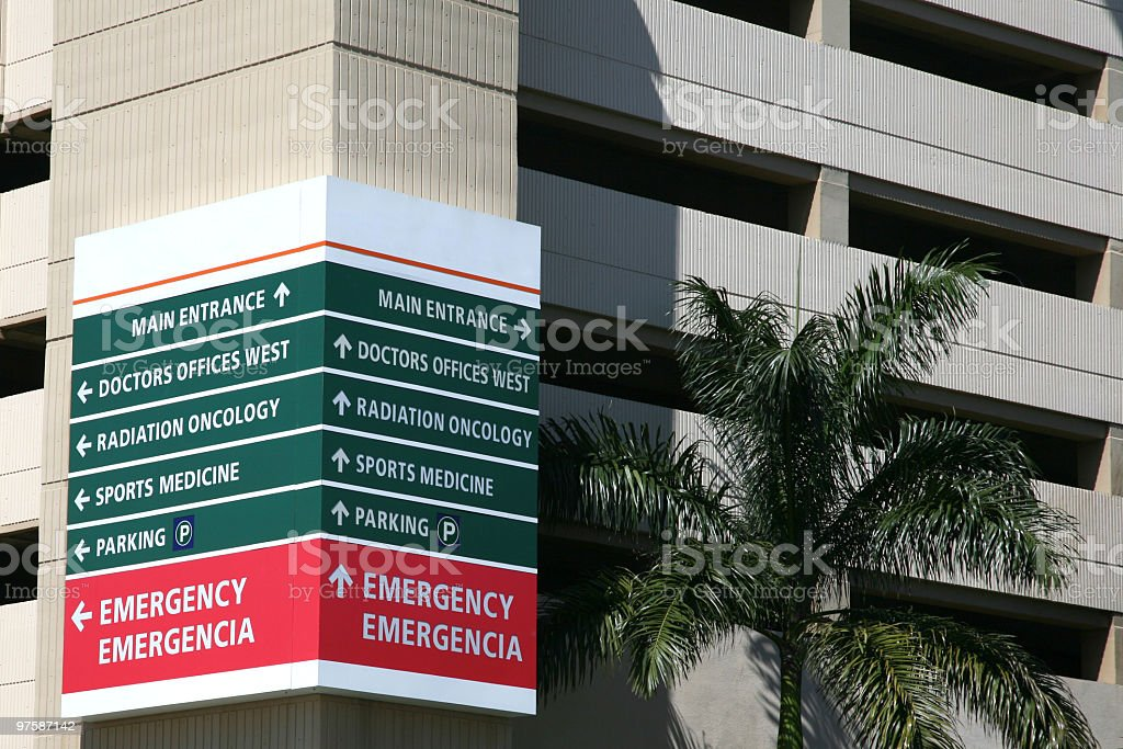 Hospital Directions royalty-free stock photo