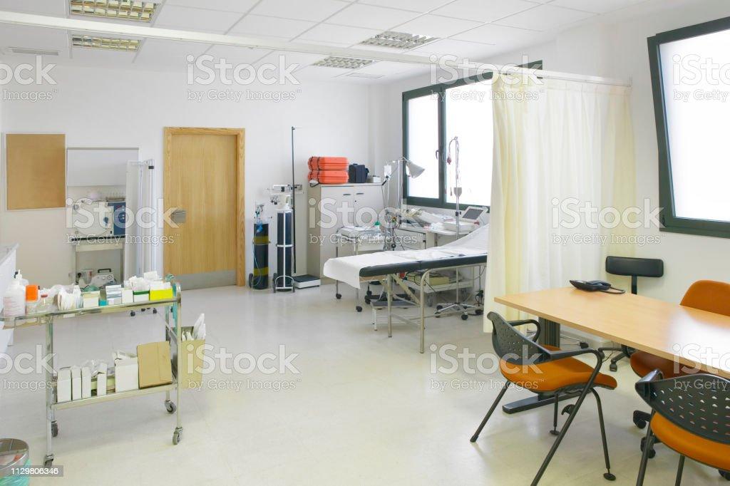 Krankenhaus, Arzt, Sprechzimmer. Medizinische Ausrüstung. Medizinische Behandlung Ausrüstung – Foto