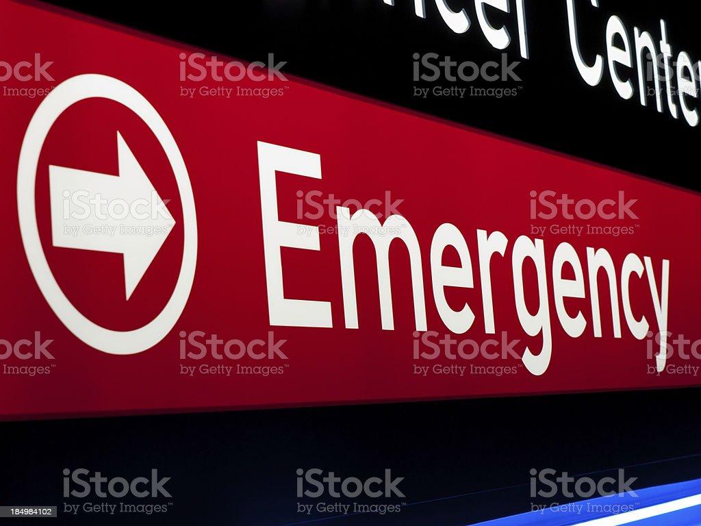 Hospital emergency sign.