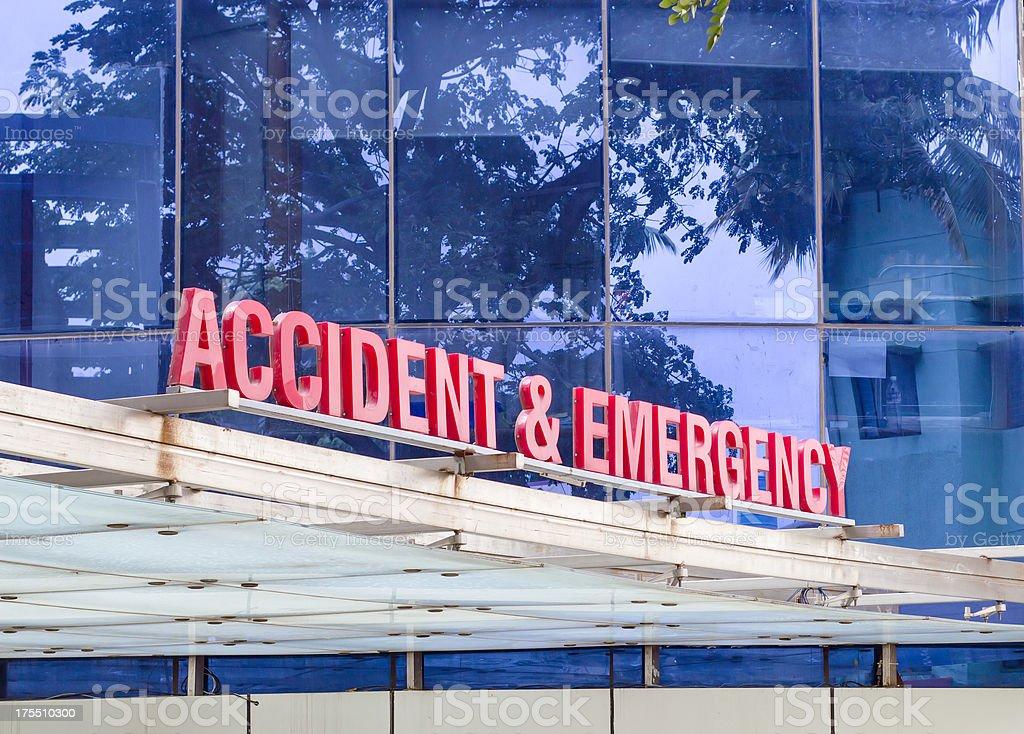 Hospital emergency signage royalty-free stock photo