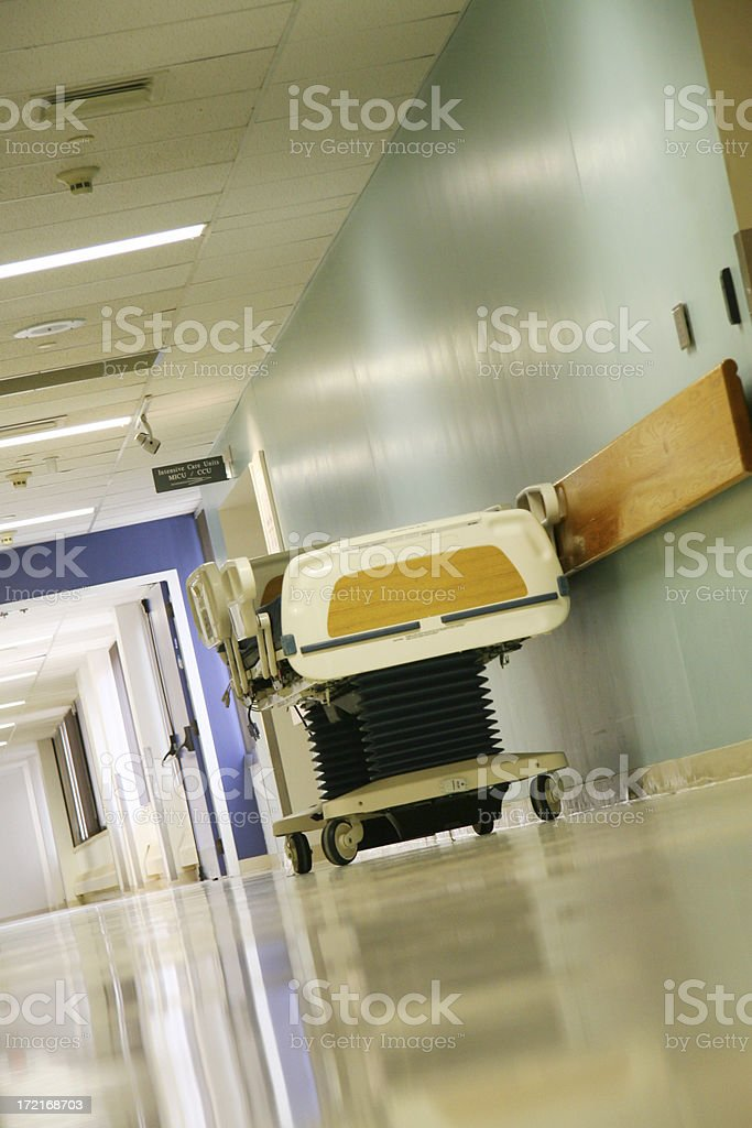 Hospital Hall Angle stock photo