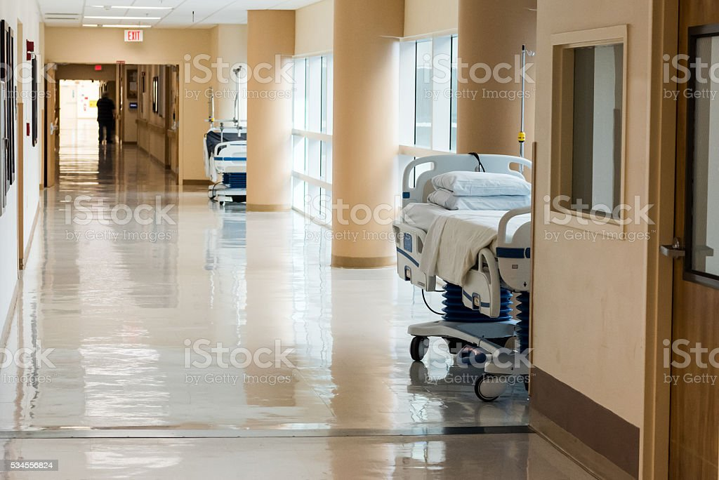 Hospital Hall stock photo