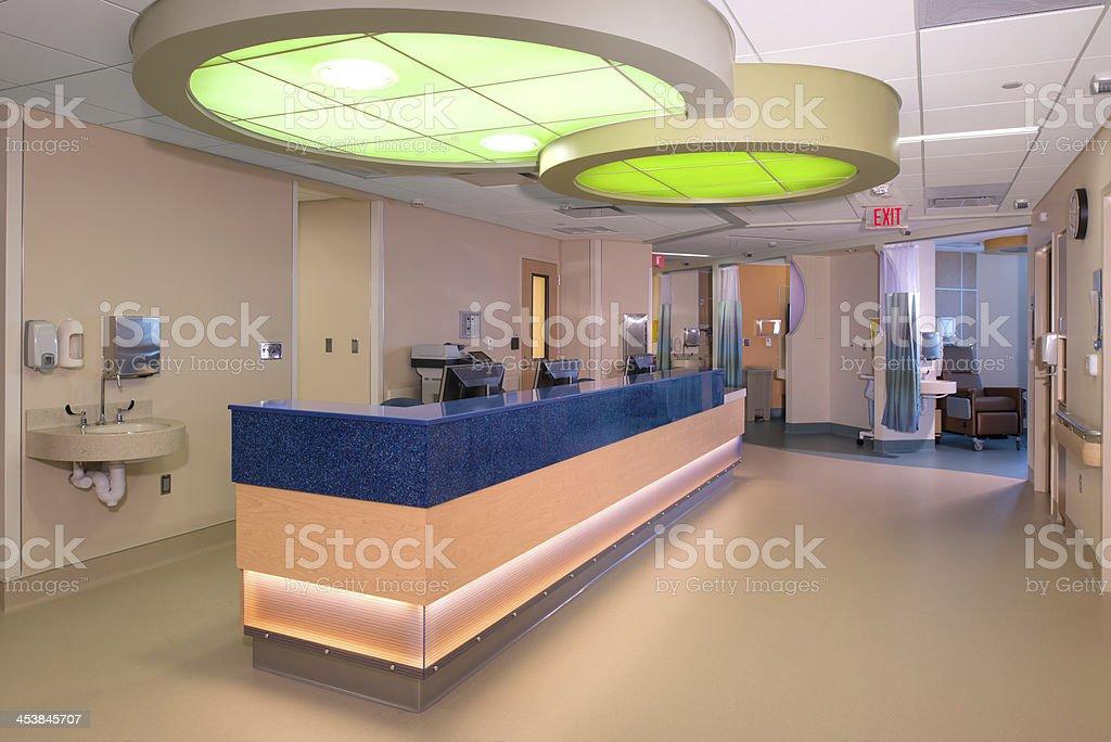 Hospital Hallway royalty-free stock photo