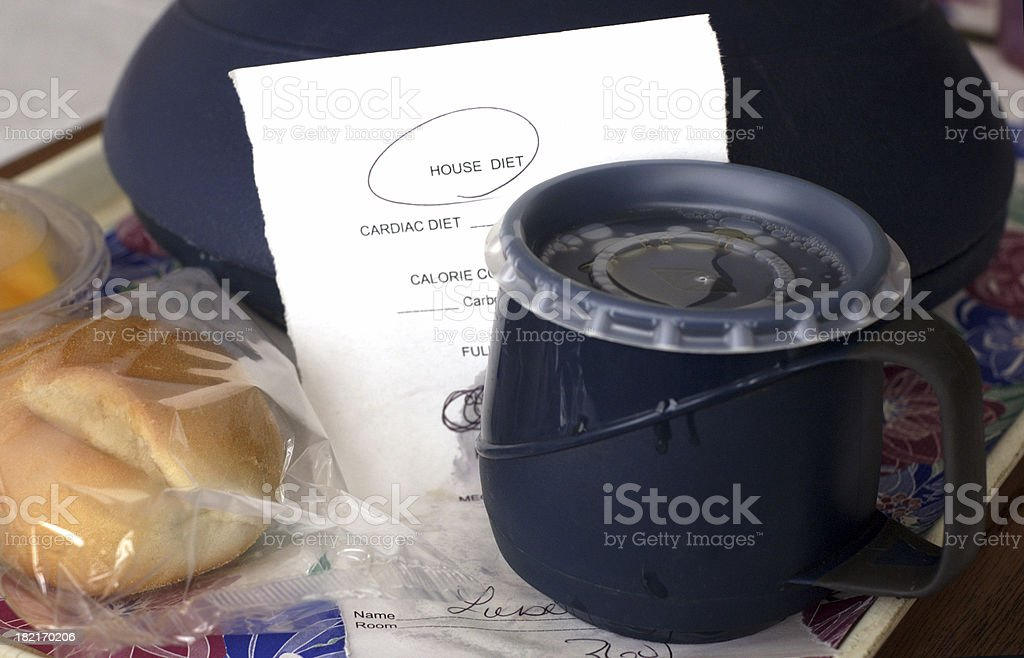 hospital house diet royalty-free stock photo