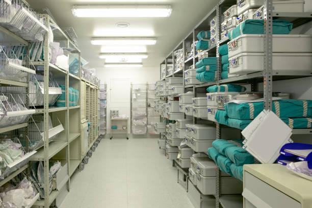 sjukhus inomhus förråd. health center-databasen - sjukvårdsrelaterat material bildbanksfoton och bilder