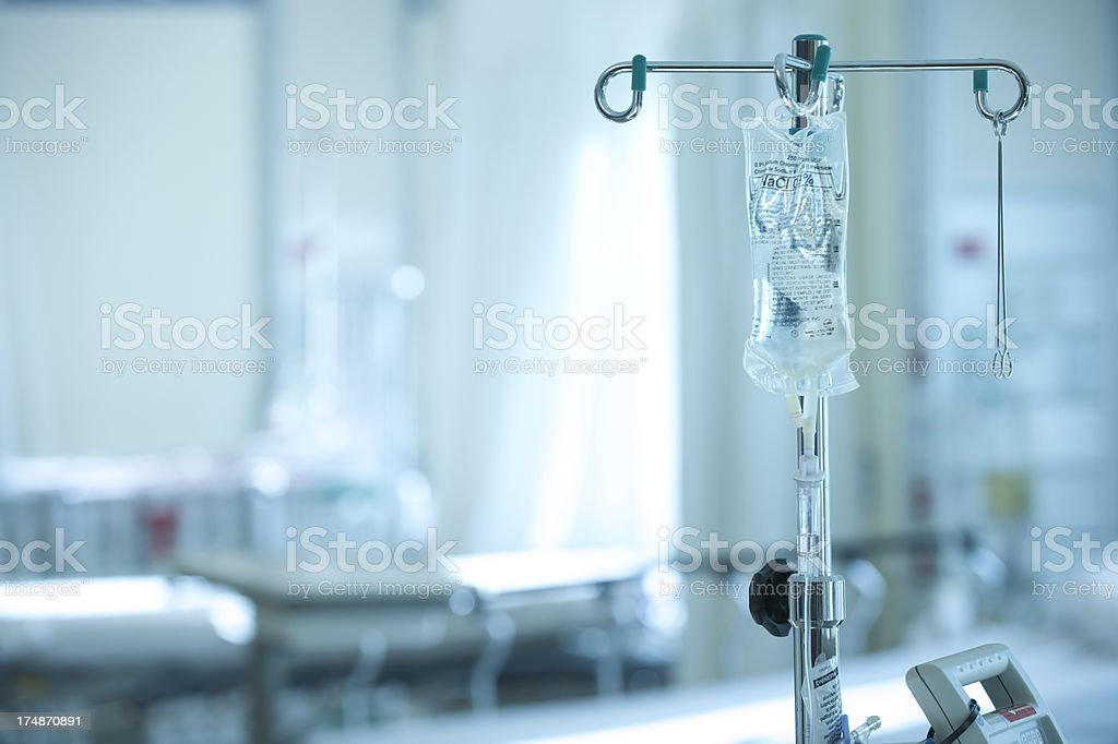 Hospital Intravenous IV Bag royalty-free stock photo