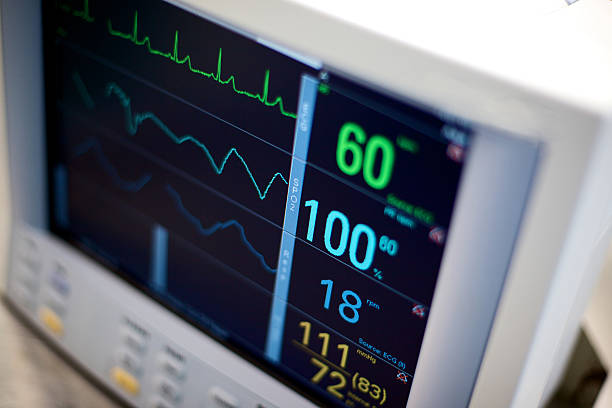 EKG hospital medical equipment vital statistics hospital medical equipment heart monitor vital statistics (photos professionally retouched - Photoshop action added) medical equipment stock pictures, royalty-free photos & images