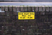 Hospital NHS staff parking only car spaces at work uk