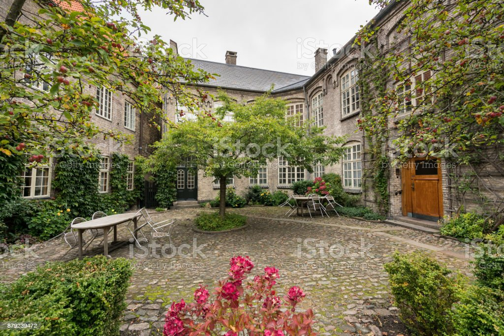 Hospital of the Holy Ghost in Aalborg, Denmark stock photo