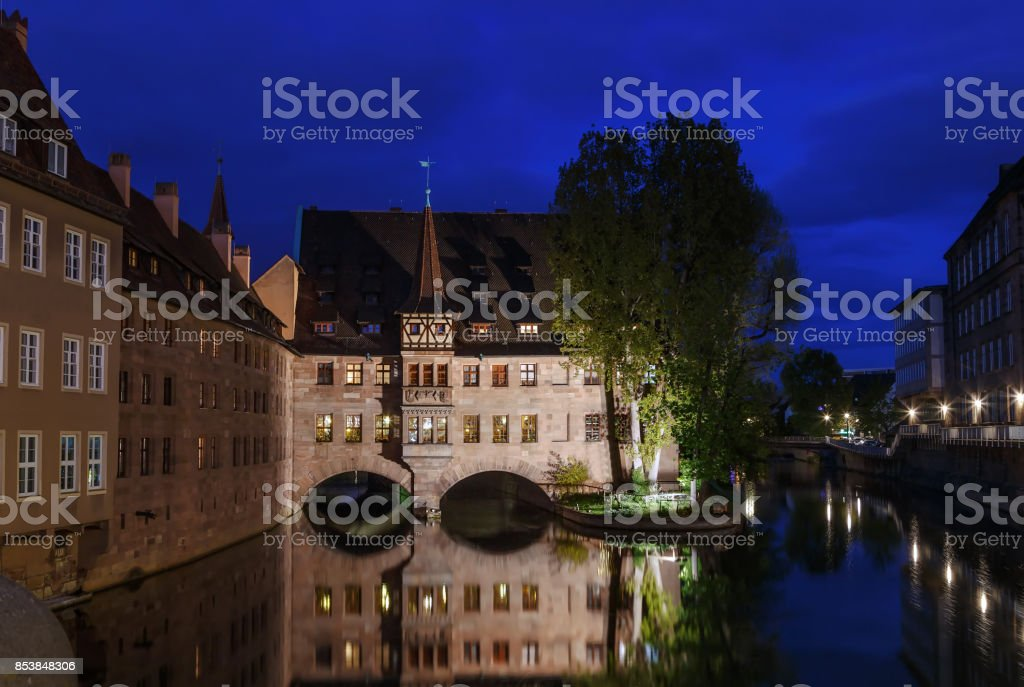 Hospital of the Holy Spirit, Nuremberg, Germany stock photo